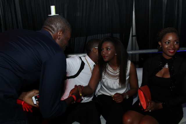 Dbanj and Genevieve Nnaji at Club Ultimate