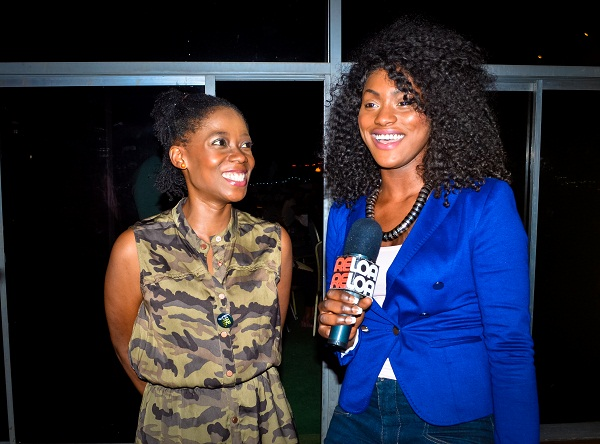 Tosyn Bucknor getting interviewed by Reloaded