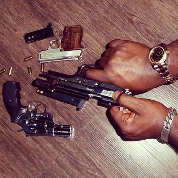 Jude-Okoye-shows-off-his-firearms-600x600