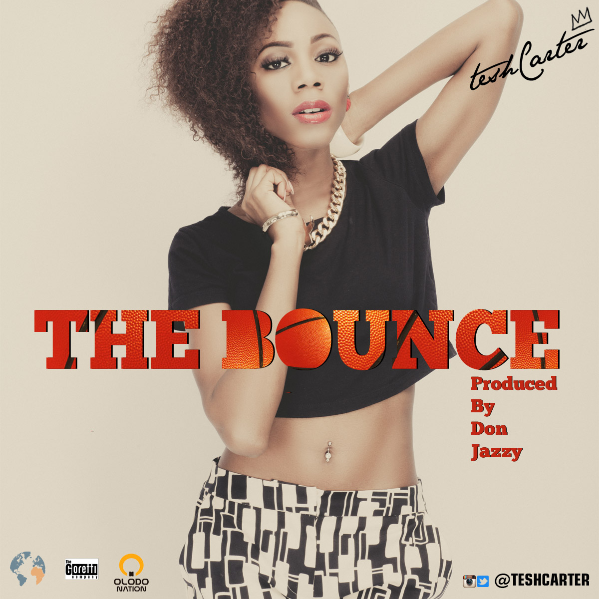 Tesh Carter - The Bounce Single Cover