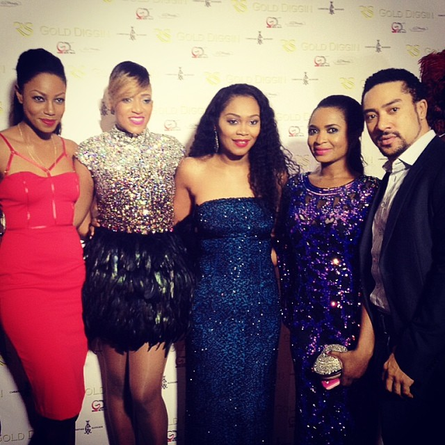 Yvonne Nelson, Rukky Sanda, Guests and Majid Michael