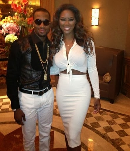 Dbanj and Kenya Moore