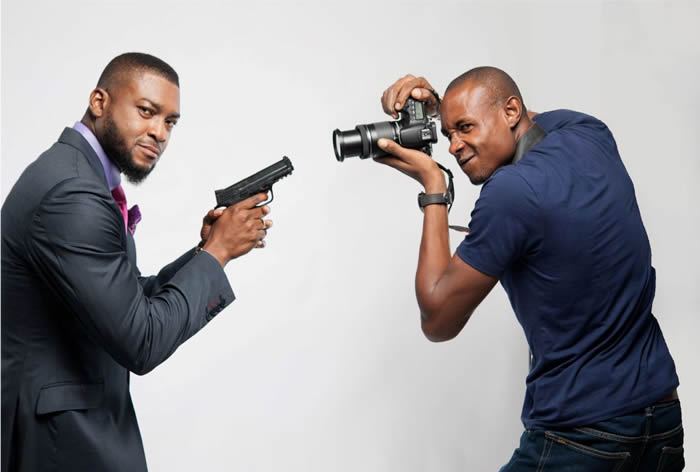3. Chidi Mokeme with photographer Heman Obaseki