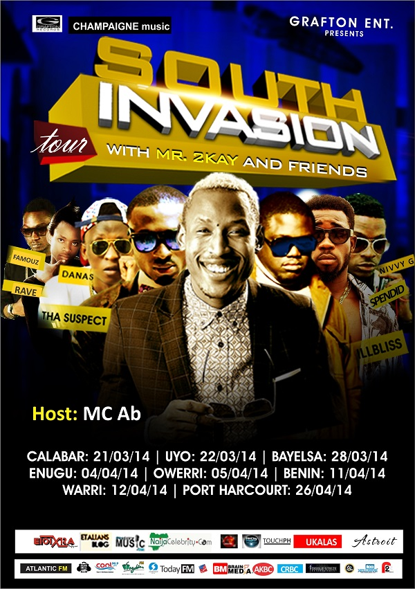 Mr. 2Kay - South Invasion Tour [Promo Poster]