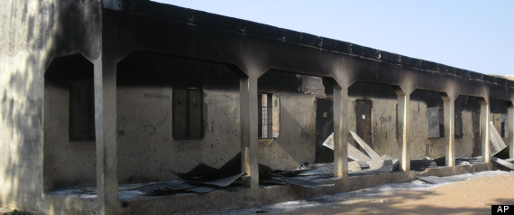 School destroyed by Boko Haram