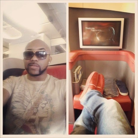 Banky-W-aboard-an-Arik-Air-flight-bound-for-Lagos-460x460