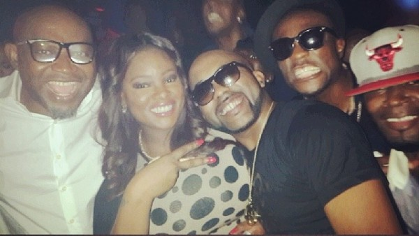 Nigerian-celebs-party-in-Dubai-ahead-of-Tiwa-Savages-wedding-Paul-Okoye-Toolz-Banky-W-Trafic-Tee-Billz-e1398483536315-600x338