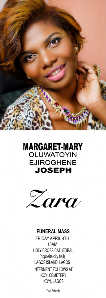Obituary File - Zara Margaret-Mary Joseph-2