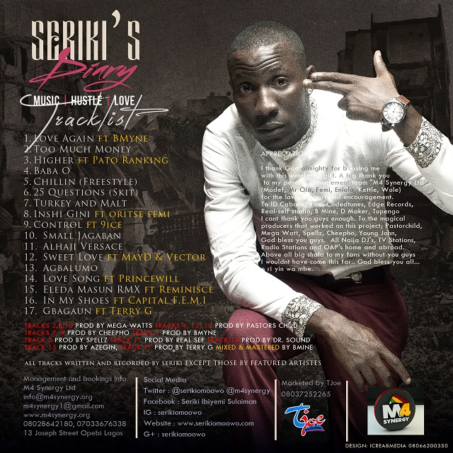 SERIKI - ALBUM ART BACK