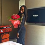 In Photos: Tiwa Savage arrives in Dubai for Wedding