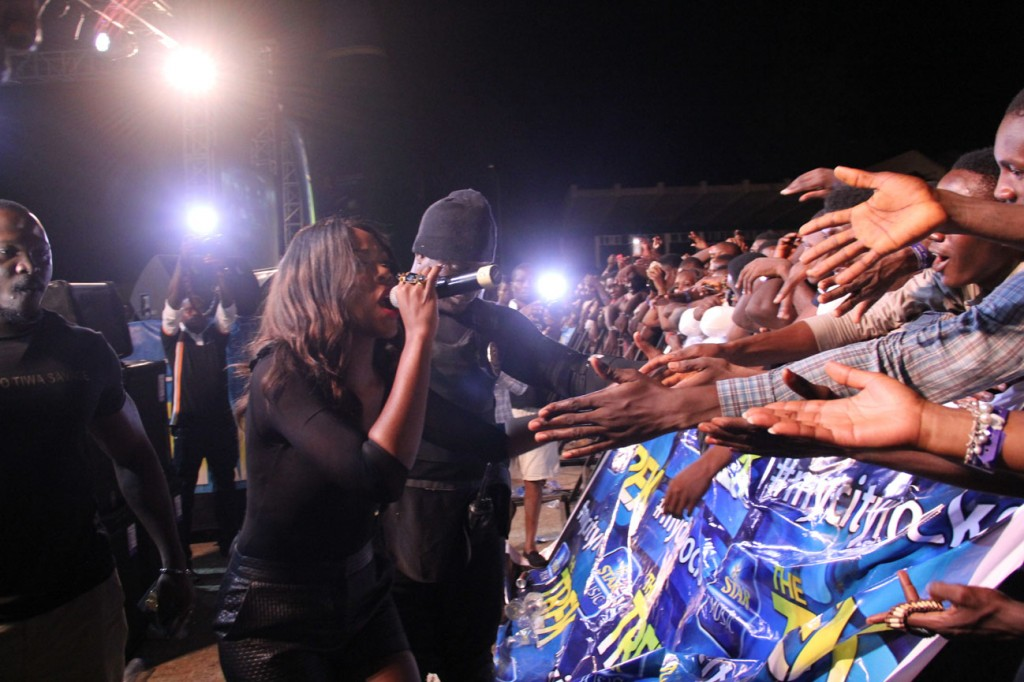 Tiwa Savage and fans