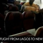 Video: Nigerian Passengers On Arik Flight From Lagos To New York Stage Protest Inside Aircraft | Banky W On Board Flight Also