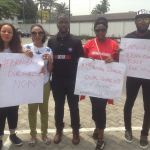 Photos: #BringBackOurGirls: Tiwa Savage, Tonto Dikeh, Toke Makinwa others protest in Lagos