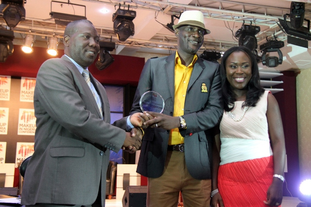 Award presented to Bayo Haastrup