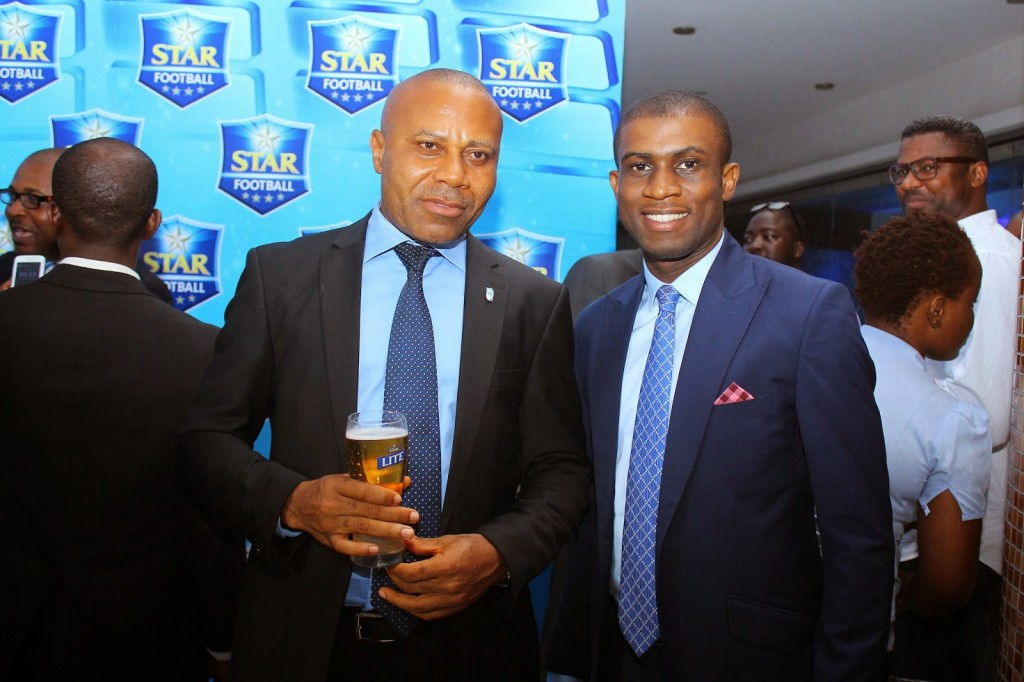 CORPORATE MEDIA & BRAND PR MANAGER, EDEM VINDAH & JOE HANSEN AT STAR FOOTBALL ANNOUNCEMENT
