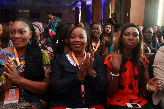 Cross section of makeup artistes in the audience