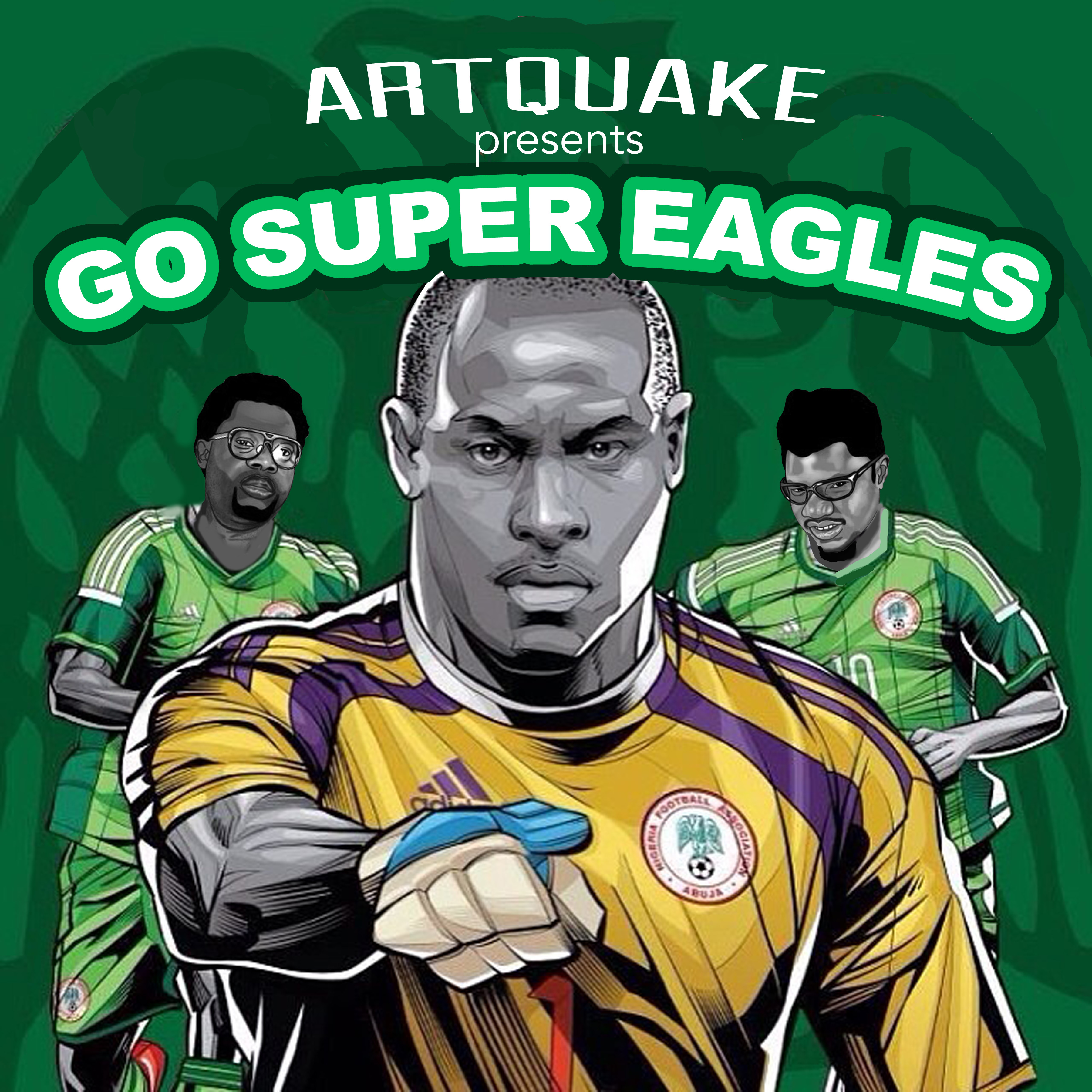 GO SUPER EAGLES ART