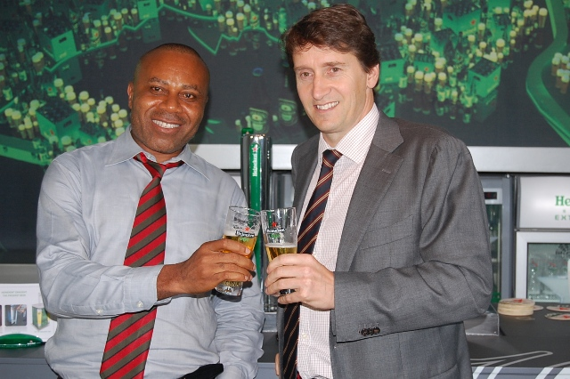 Mr. Edem VindahCorporate Media & Brand PR Manager & Walter Drenth Marketing Director Nigerian Breweries
