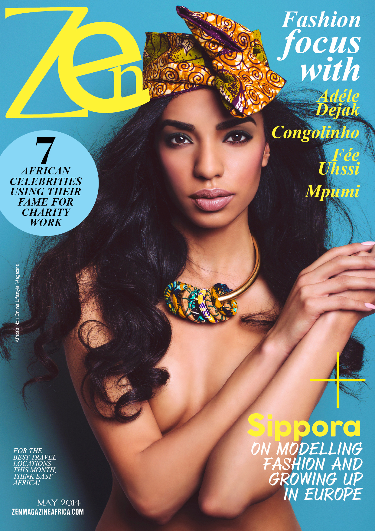 Zen+Magazine+May+Issue+Sippora+On+The+Cover