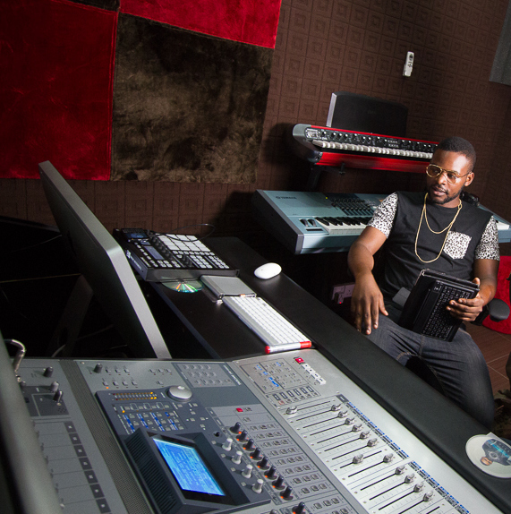 Falz in the studio