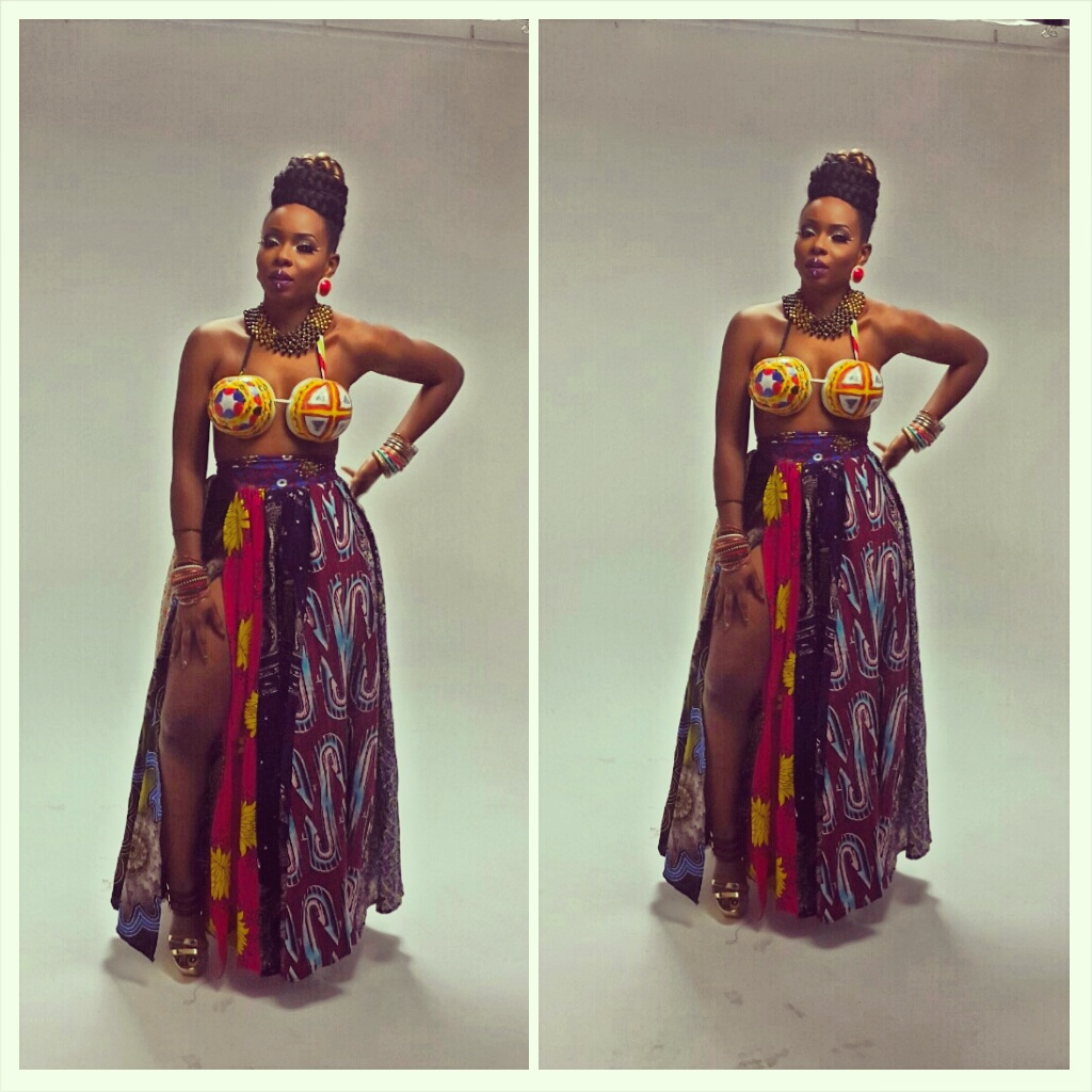 Yemi Alade on Tangerine Video Shoot