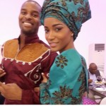 In Pictures: Ex Miss Universe Leila Lopes and Osi Umenyiora's Angolan Engagement Ceremony