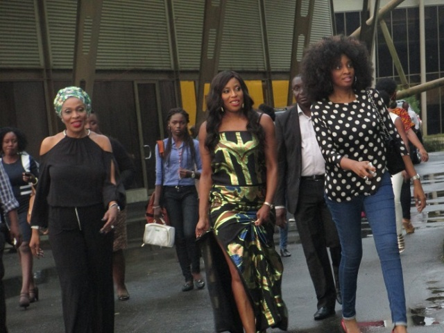 The first lady of Cross rivers and Mo Abudu on studio tour