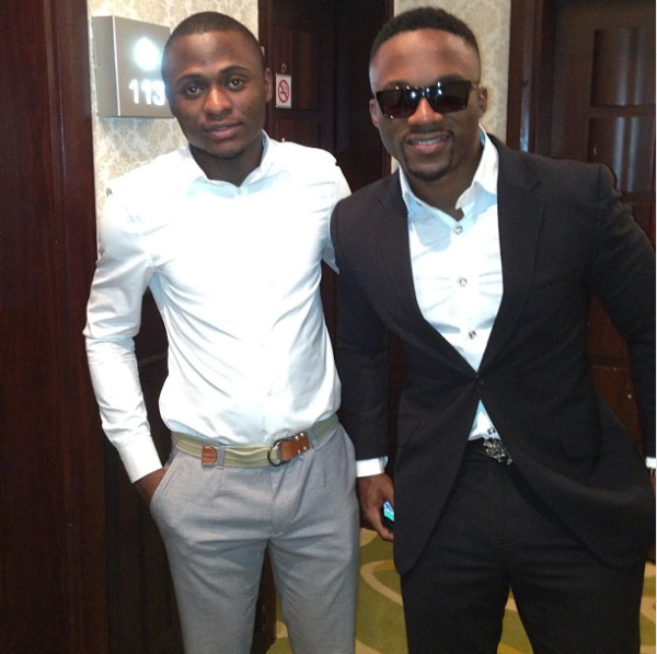 Ubi Franklin with iyanya