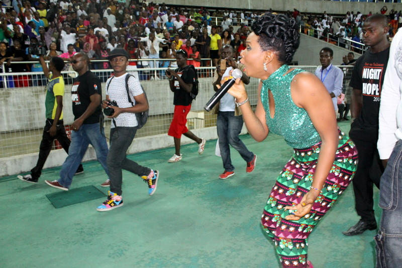 Yemi Alade Performing to 50,000 fans in Tanzania