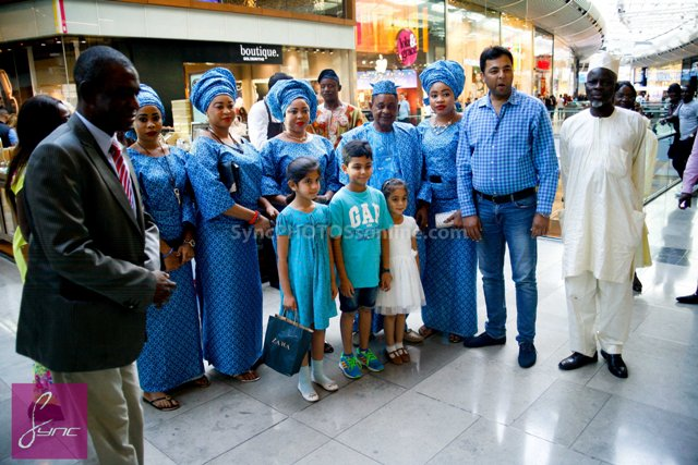 _MG_0661 Alaafin of Oyo_Oba Lamidi Olayiwola  Wives_Westfield London 3Sep14