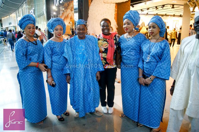 _MG_0686 Alaafin of Oyo_Oba Lamidi Olayiwola  Wives_Westfield London 3Sep14
