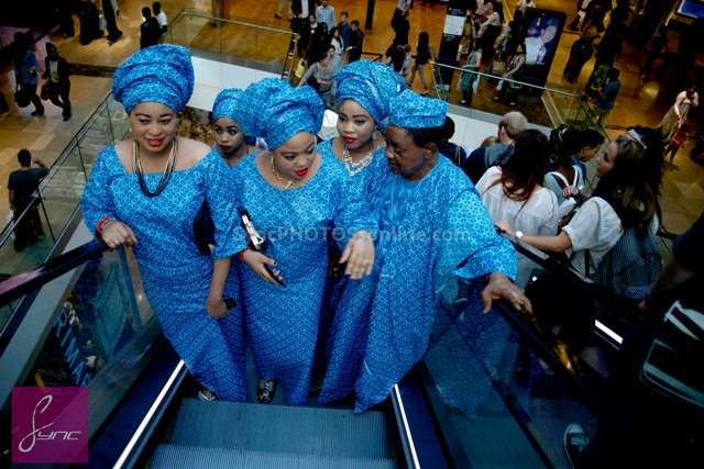 _MG_0764 Alaafin of Oyo_Oba Lamidi Olayiwola  Wives_Westfield London 3Sep14
